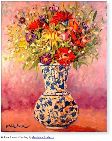 Autumn Flowers Painting by Ana Maria Edulescu